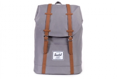sac a dos herschel retreat backpack 19 5l grey tan synthetic leather gris