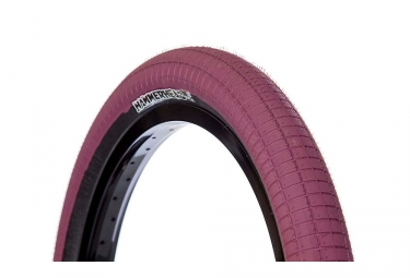Demolition Hammerhead Street Tire Maroon Black Wall