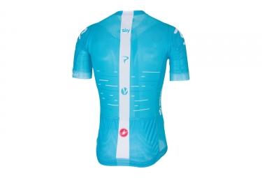maillot manches courtes castelli team sky aero race 5 1 bleu xl
