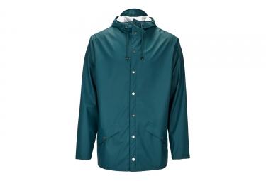 veste rains jacket dark teal vert xs s