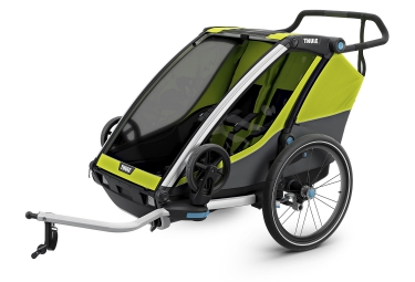Thule Chariot Cab 2 Trailer Green Grey