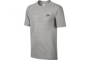 Nike club embroidery futura t shirt 827021 063 homme t shirt gris l
