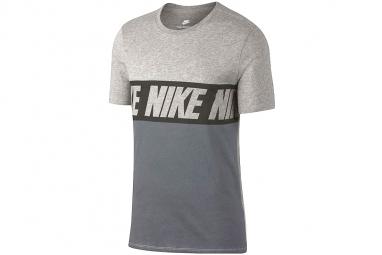Nike repeat logo t shirt 856475 063 homme t shirt gris l