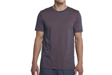 Nike dri fit cotton short sleeve 706625 471 homme t shirt gris s