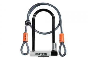 Antivol U Kryptonite Kryptolock Standard avec Câble Kryptoflex