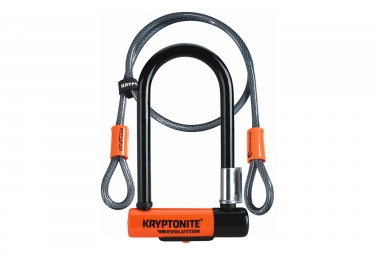 Kryptonite Evolution Mini 7 U-Fahrradschloss mit Kryptoflex Kabel