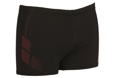 short de bain arena shadow noir rouge 80