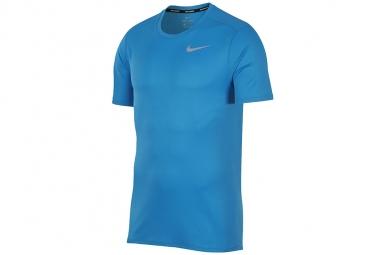 Nike breathe run top tee 904634 482 homme t shirt bleu xl