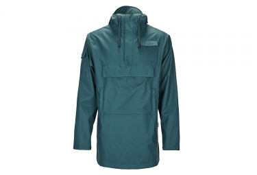 Giacca impermeabile Rains Camp Anorak Dark Teal Green