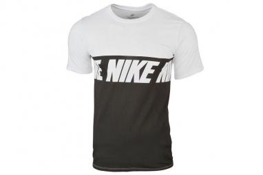 Nike repeat logo t shirt 856475 100 homme t shirt blanc xl