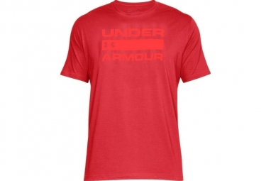 Ua team issue wordmark 1314002 600 homme t shirt rouge l