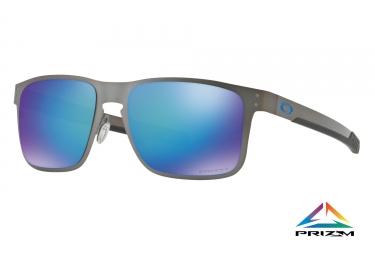 paire de lunettes oakley 2017 holbrook metal mat gunmetal saphire prizm polarized ref oo4123 0755