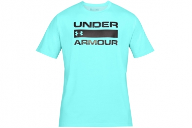 Ua team issue wordmark 1314002 425 homme t shirt bleu xl