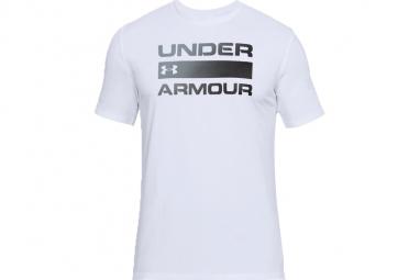 Ua team issue wordmark tee 1314002 100 homme t shirt blanc xl