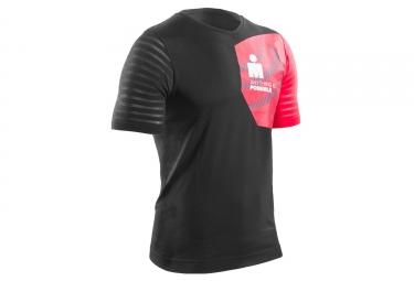 t shirt compressport ironman training noir rouge m
