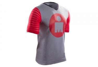 t shirt compressport ironman training gris rouge xl