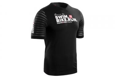 t shirt compressport swimbikerun training noir xl