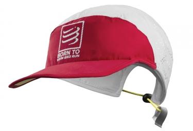 compressport casquette pro racing ultralight swimbikerun rouge blanc