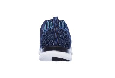 Skechers Flex Appeal 2.0 Femme Noir Bleu