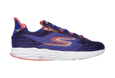 skechers go run 5 bleu orange 43 1 2