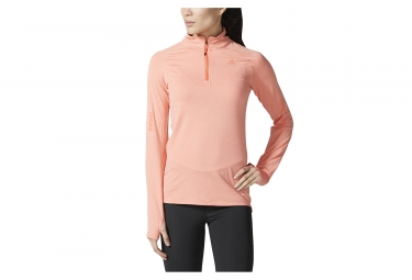Maillot manches longues femme adidas running supernova corail s