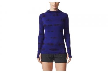 Maillot manches longues femme adidas running primeknit bleu l