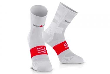 chaussettes compressport ironman proracing v3 ultralight run blanc 39 41