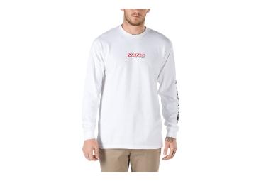 T-Shirt Manches Longues Vans Side Waze Blanc