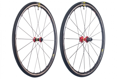Wheelset MAVIC Ksyrium Elite UST Tubeless Black Red | Sram/Shimano | Yksion Pro UST 25mm
