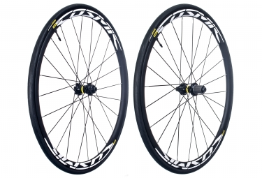 paire de roues mavic cosmic elite ust disc center lock 12x100 142mm shimano sram yksion pro ust 25mm
