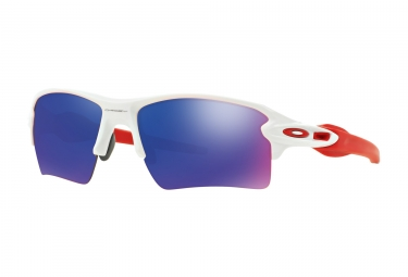 oakley lunettes flak 2 0 xl polished white positive red iridium ref oo9188 21