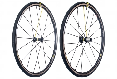 Paire de roues mavic ksyrium pro ust tubeless sram shimano yksion pro ust 25mm