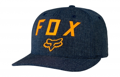 casquette flexfit fox number 2 bleu orange s m