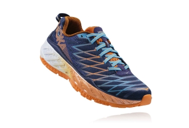 hoka clayton 2 bleu orange 42 2 3
