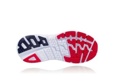 Chaussures de Running Hoka Bondi 5 Bleu / Rouge