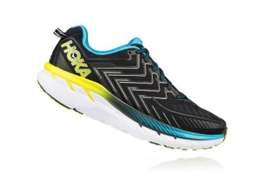 Chaussures de Running Hoka Clifton 4 Noir / Bleu
