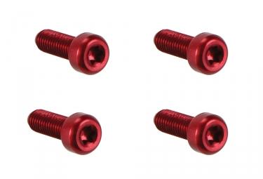 Woodman Vis porte-bidon Lite M5x15 mm x4 Rouge