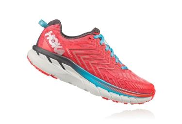 Chaussures de Running Femme Hoka Clifton 4 Bleu / Rouge