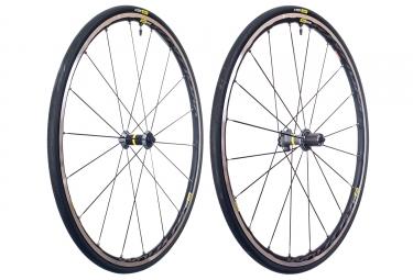 paire de roues mavic ksyrium elite ust tubeless noir gris sram shimano yksion pro ust 25mm