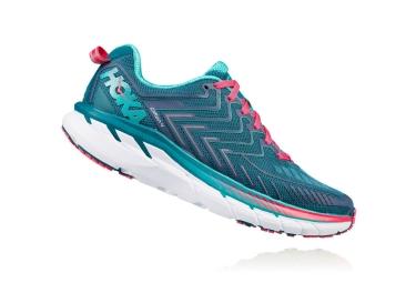 Chaussures de Running Femme Hoka Clifton 4 Bleu / Rose