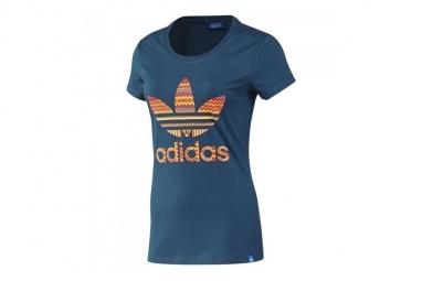 T shirt adidas trefoil f82108 femme t shirt bleu 32