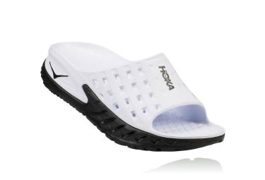 Chaussure de recuperation hoka ora recovery slide noir blanc femme 37 1 3