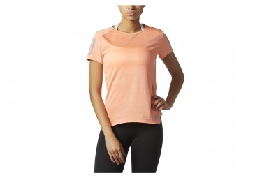 Maillot manches courtes femme adidas running response orange s