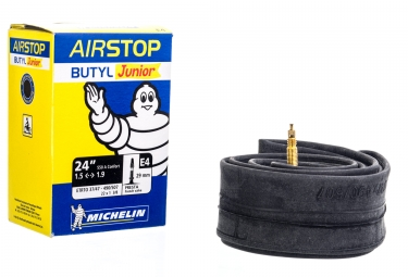 michelin chambre a air a1 airstop e4 24 x1 75 valve presta 29mm