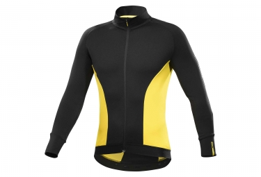 maillot manches longues mavic cosmic elite thermo noir jaune m