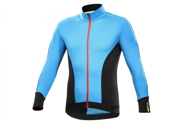 maillot manches longues mavic cosmic elite thermo bleu noir s