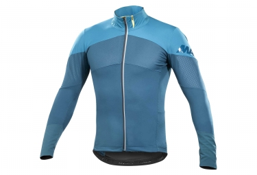 maillot manches longues mavic cosmic pro wind bleu s