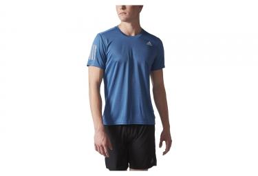 maillot manches courtes adidas running response bleu s