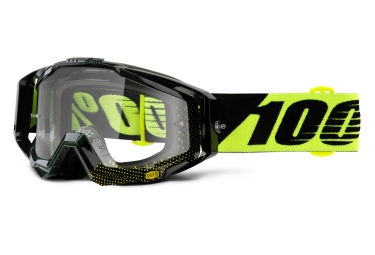 masque 100 racecraft cox noir jaune ecran transparent