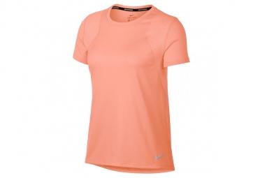 Nike W Run Top SS Tee 890353-827 Femme T-shirt Orange